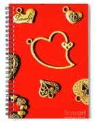 Romantic Heart Decorations Spiral Notebook
