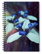 Romantic Island Lilies In Blues Spiral Notebook