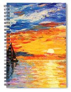 Romantic Sea Sunset Spiral Notebook
