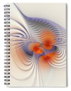 Romantic Sensual Lines Spiral Notebook