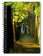 Romantic Sidewalk Spiral Notebook
