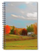 Romantic Skies Autumn Farm Spiral Notebook