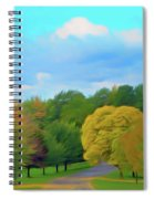 Romantic Skies Autumn Road Spiral Notebook