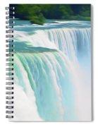 Romantic Skies Niagara Falls 2  Spiral Notebook