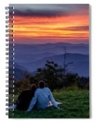 Romantic Smoky Mountain Sunset Spiral Notebook