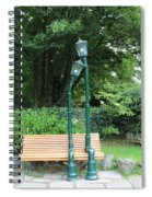 Romantic Street Lamp Spiral Notebook