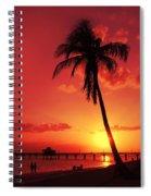 Romantic Sunset Spiral Notebook