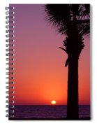 Romantic Sunset Spiral Notebook