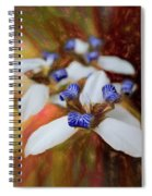 Romantic Textured Island Lilies  Spiral Notebook