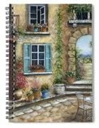 Romantic Tuscan Courtyard II Spiral Notebook
