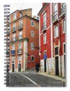 Romantic Walking At Old Lisbon Spiral Notebook