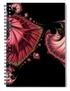 Romantically Jewelled Abstract Spiral Notebook