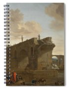 Rome. A View Of The Ponte Rotto Spiral Notebook