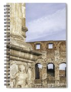 Rome Arch Of Titus Sculpture Detail Spiral Notebook