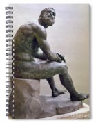 Rome Boxer Sculpture Spiral Notebook