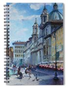 Rome Piazza Navona Spiral Notebook