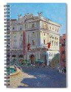 Rome Piazza Republica Spiral Notebook