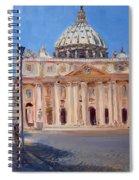 Rome Piazza San Pietro Spiral Notebook