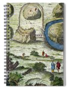 Rome: Seven Hills, 18th C Spiral Notebook