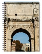 Rome - The Arch Of Constantine 3 Spiral Notebook