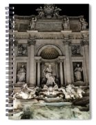 Rome - The Trevi Fountain At Night 3 Spiral Notebook