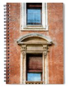 Rome Windows And Balcony Textured Spiral Notebook