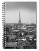 Roof Of Paris. France Spiral Notebook