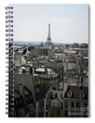 Roofs Of Paris. France Spiral Notebook