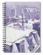 Roofs Under Snow Spiral Notebook