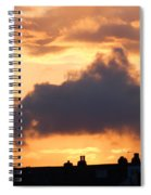 Rooftop Sunset 2 Spiral Notebook