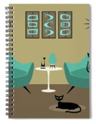 Room With Dark Aqua Chairs 2 Spiral Notebook
