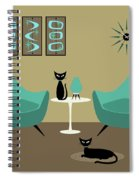 Room With Dark Aqua Chairs Spiral Notebook