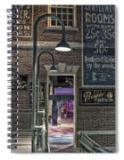 Rooms For Rent 25 Cents Signage Spiral Notebook