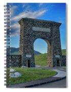 Roosevelt Arch At Yellowstone Dsc2522_05252018 Spiral Notebook