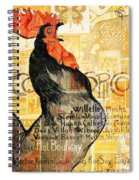 Rooster Spiral Notebook