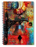 Rooster On The Door Whimsy Spiral Notebook