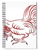 Rooster - Sign Of Chinese New Year Spiral Notebook