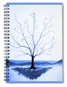Roots Of A Tree In Blue Spiral Notebook