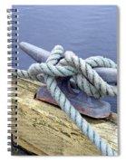 Rope And Bollard Spiral Notebook
