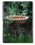 Rope Edged Bird Bath Spiral Notebook