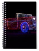 Rope Light Art 1957 Chevy Spiral Notebook