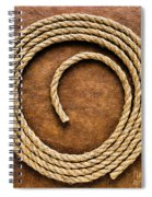Rope On Leather Spiral Notebook