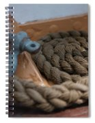 Eagle Shackle And Line Spiral Notebook