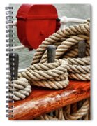Ropes Of A Sailboat Spiral Notebook