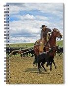 Roping In The Branding Pen Spiral Notebook