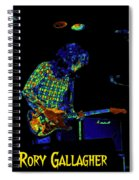 Saturated Blues Rock With Text Spiral Notebook
