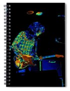 Saturated Blues Rock Spiral Notebook