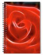 Rose-5856-fractal Spiral Notebook