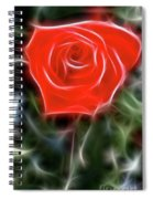 Rose-5879-fractal Spiral Notebook