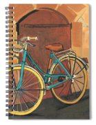 Rose And Bicycle Spiral Notebook